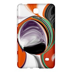 Abstract Orb In Orange, Purple, Green, And Black Samsung Galaxy Tab 4 (7 ) Hardshell Case