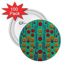 Pumkins Dancing In The Season Pop Art 2 25  Buttons (100 Pack)