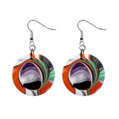 Abstract Orb Mini Button Earrings