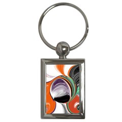 Abstract Orb Key Chains (Rectangle)