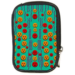 Pumkins Dancing In The Season Pop Art Compact Camera Cases