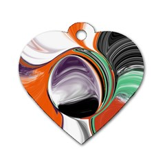 Abstract Orb Dog Tag Heart (Two Sides)