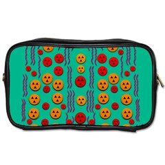 Pumkins Dancing In The Season Pop Art Toiletries Bags 2-Side
