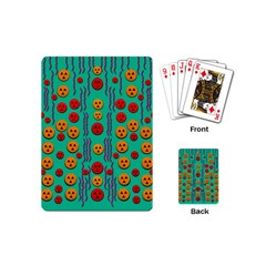 Pumkins Dancing In The Season Pop Art Playing Cards (mini)