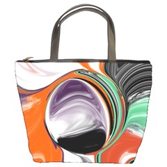 Abstract Orb Bucket Bags