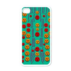 Pumkins Dancing In The Season Pop Art Apple iPhone 4 Case (White)