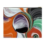 Abstract Orb Cosmetic Bag (XL) Back