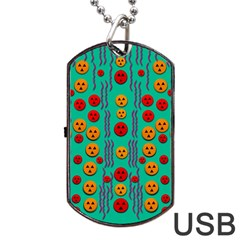 Pumkins Dancing In The Season Pop Art Dog Tag Usb Flash (one Side)