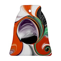 Abstract Orb Bell Ornament (2 Sides)