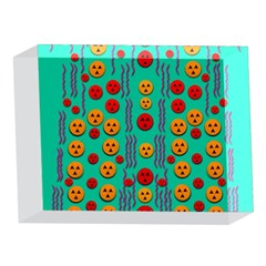 Pumkins Dancing In The Season Pop Art 5 x 7  Acrylic Photo Blocks