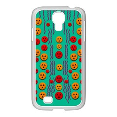 Pumkins Dancing In The Season Pop Art Samsung GALAXY S4 I9500/ I9505 Case (White)