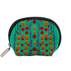 Pumkins Dancing In The Season Pop Art Accessory Pouches (small)