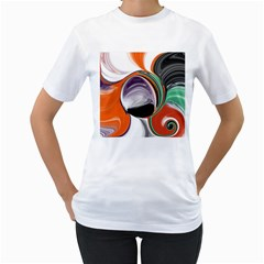 Abstract Orb Women s T-Shirt (White)