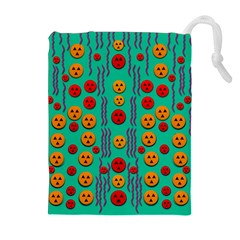 Pumkins Dancing In The Season Pop Art Drawstring Pouches (extra Large)
