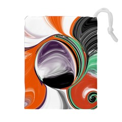 Abstract Orb Drawstring Pouches (extra Large)