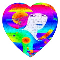 Abstract Color Dream Jigsaw Puzzle (heart)