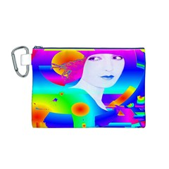 Abstract Color Dream Canvas Cosmetic Bag (M)