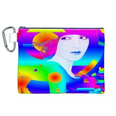 Abstract Color Dream Canvas Cosmetic Bag (XL)