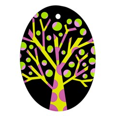 Simple colorful tree Ornament (Oval)