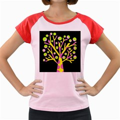 Simple colorful tree Women s Cap Sleeve T-Shirt