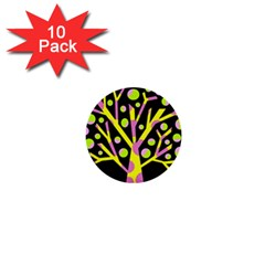 Simple colorful tree 1  Mini Buttons (10 pack)