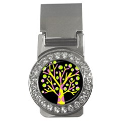Simple colorful tree Money Clips (CZ)