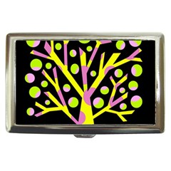 Simple colorful tree Cigarette Money Cases
