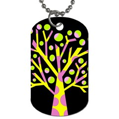 Simple colorful tree Dog Tag (Two Sides)