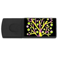 Simple colorful tree USB Flash Drive Rectangular (2 GB)