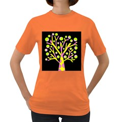 Simple colorful tree Women s Dark T-Shirt