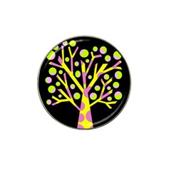 Simple colorful tree Hat Clip Ball Marker (4 pack)