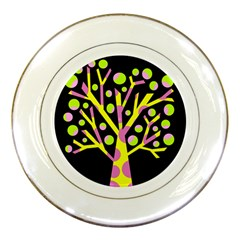 Simple colorful tree Porcelain Plates