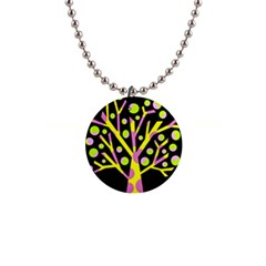 Simple Colorful Tree Button Necklaces