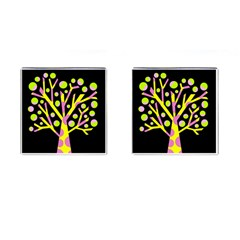 Simple colorful tree Cufflinks (Square)