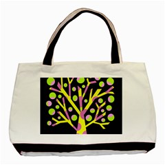 Simple colorful tree Basic Tote Bag