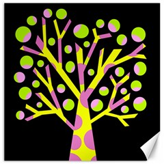 Simple colorful tree Canvas 12  x 12