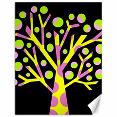 Simple colorful tree Canvas 12  x 16
