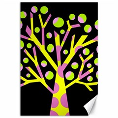 Simple colorful tree Canvas 12  x 18