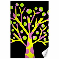 Simple colorful tree Canvas 24  x 36