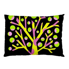 Simple colorful tree Pillow Case