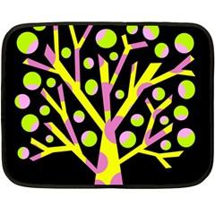 Simple colorful tree Fleece Blanket (Mini)