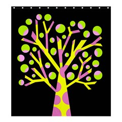 Simple colorful tree Shower Curtain 66  x 72  (Large)