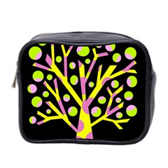 Simple colorful tree Mini Toiletries Bag 2-Side