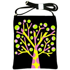 Simple colorful tree Shoulder Sling Bags