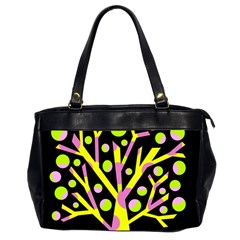 Simple colorful tree Office Handbags (2 Sides)
