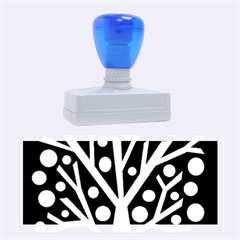 Simple colorful tree Rubber Stamps (Large)