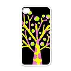 Simple colorful tree Apple iPhone 4 Case (White)