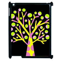 Simple colorful tree Apple iPad 2 Case (Black)