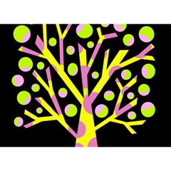 Simple colorful tree Birthday Cake 3D Greeting Card (7x5)