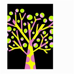 Simple colorful tree Large Garden Flag (Two Sides)